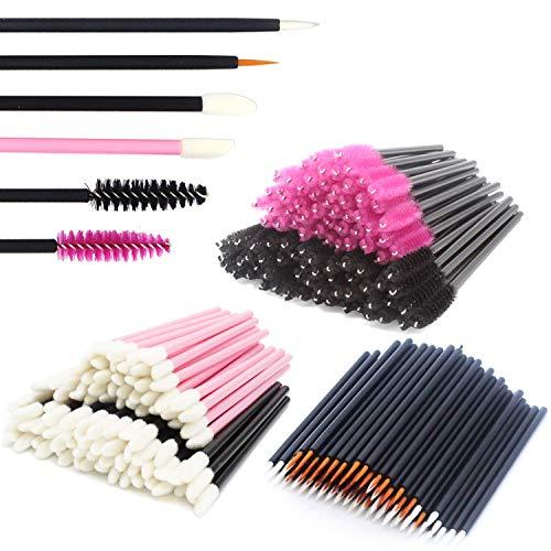 JIULORY Disposable Makeup Applicators Mascara Wands & Lipstick Applicators & Disposable Eyeliner Applicators 300PCS…