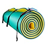 Fun Float Floating Water Mat, 18x6 feet,Swimming Island,Aqua Pad,Used in Lake,Pool,on Beach,for Relax, Vacation,Water Activities,Sports,Recreations,Parties,with Mooring Device,Rolled Packed,XL