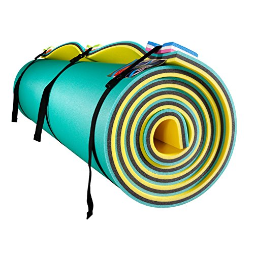 Fun Float Floating Water Mat, 9x6 feet, Swimming Island,Aqua Pad,Used in Lake,Pool,on Beach Relax, Vacation,Water Activities,Sports,Recreations,Parties Mooring Device,Rolled Packed, L