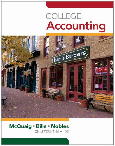 College Accounting, Chapters 1-12 (Available Titles CengageNOW)