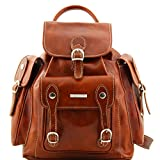Tuscany Leather Pechino Leather Backpack Honey