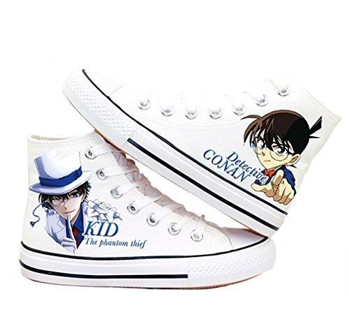 Bromeo Detective Conan Case Closed Unisexe Toile Salut-Top Sneaker Baskets Mode Chaussures