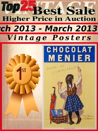 Vintage Auction Poster - Top25 Best Sale Higher Price in Auction - March 2013 - Vintage Posters