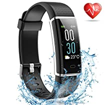 MayuFit Fitness Tracker, Color Screen Activity Tracker with Heart Rate Monitor Smart Watch Step Counter Pedometer for WomenMen Kids
