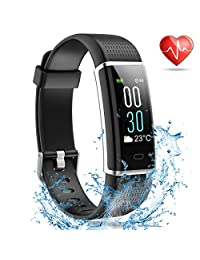 MayuFit Fitness Tracker, Color Screen Activity Tracker with Heart Rate Monitor Smart Watch Step Counter Pedometer for Women Men Kids