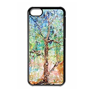HXYHTY Print Tree of Life Pattern PC Hard Case for iPhone 5C