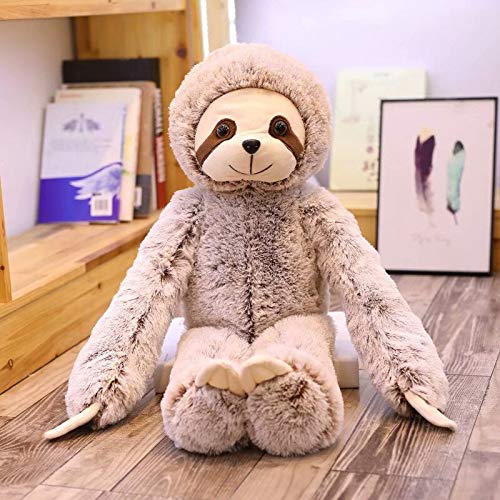 New 50/70Cm Simulation Sloth Plush Toy Soft Animal Stuffed Sloth Dolls Toys for Kids Birthday Toys Teen Must Haves Baby Boy Gifts Toddler Favourite 4T ()