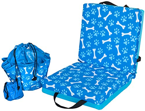 ABS Novelties Paws and Bones Pattern Cushion and Tote Set Blue