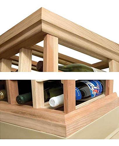 Designer Straight Molding Kit (All-Heart Redwood - Midnight Black Stain) Wine Cellar Innovations