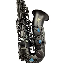 High grade matt black plated alto saxophone with China dragon engravings with case