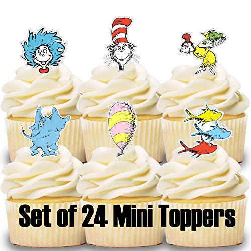 24 Mini Cupcake Toppers Storybook/Cake Decorations/Cupcake -
