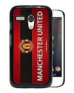 New Fashion Custom Designed Skin Case For Motorola Moto G With Manchester United Black Phone Case 9