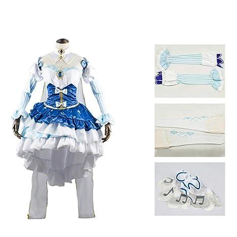 GGOODD Snow Miku Hatsune Miku Vestido Juego Cosplay Disfraz ...
