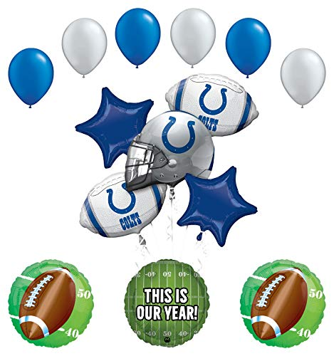 (Mayflower Products Indianapolis Colts Football Party Supplies This is Our Year Balloon Bouquet)