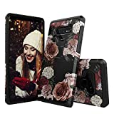 Molota Case for Samsung Galaxy Note 9,Dual Layer Anti-Scratch Series Hard PC+TPU Hybrid Protective Case for Samsung Galaxy Note 9 Marble Flower