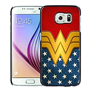meilinF000Fashionable and Newest Samsung Galaxy S6 Cell Phone Case Design with Wonder Women in BlackmeilinF000