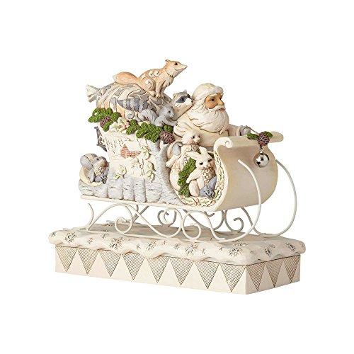 (Enesco 6001410 Woodland Santa in Sleigh, Multicolor)