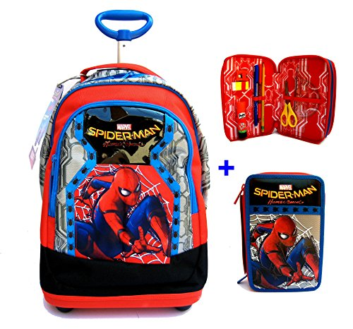 42ce74e3ae TROLLEY BIG Spiderman Homecoming Seven 2017 - PATTINA SFOGLIABILE - ZAINO  TROLLEY SCUOLA + ASTUCCIO 3 ZIP: Amazon.it: Giochi e giocattoli