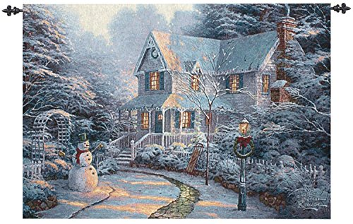 Christmas Traditions The Night Before Cotton Wall Art Hanging Tapestry 35'' x 53'' by Manual Weavers