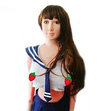 ZHIYUAN 160cm PVC de la ropa interior atractiva de la muñeca inflable muñecos pelucas masculinas pecho