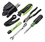 Greenlee Textron  46601 Professional Coax Cable Tool Kit, 7-Piece