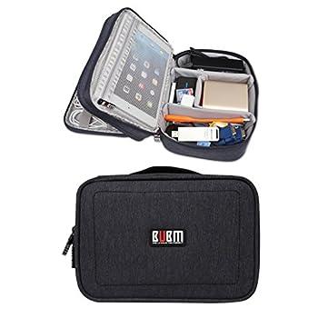 BUBM Waterproof Double Layers Travel Gadget Organizer Bag, Electronics Accessories Bag (Black)