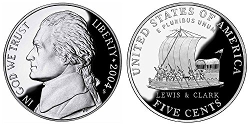 2004 S Deep Cameo Proof Jefferson Nickels Westward Journey Set Keelboat Lewis/Clark 5c DCAM US Mint