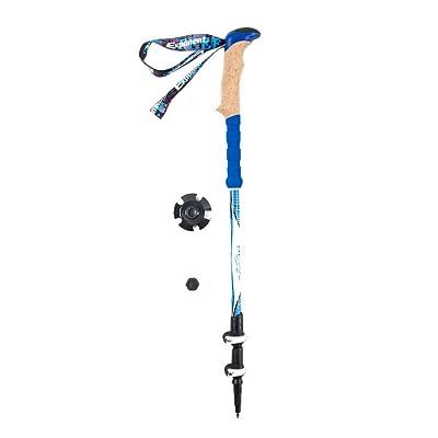 Airelibre pliable Trekking Pole extensible réglable en alliage d'aluminium 7075d'escalade bâton avec ergonomique souple EVA la transpiration gratuit Grips et sangles de tissu durable et externe Niveau Lock