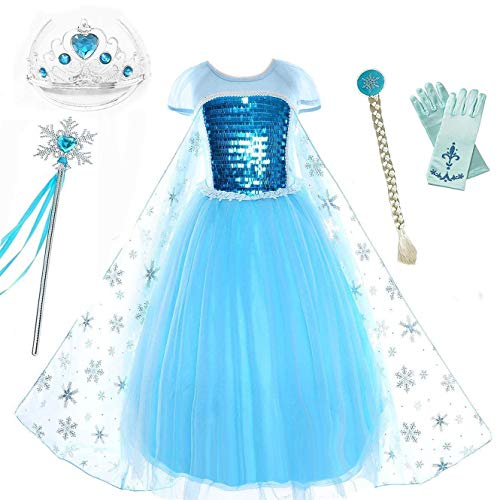 Romy's Collection Snow Queen Elsa Party Dress (5-6,