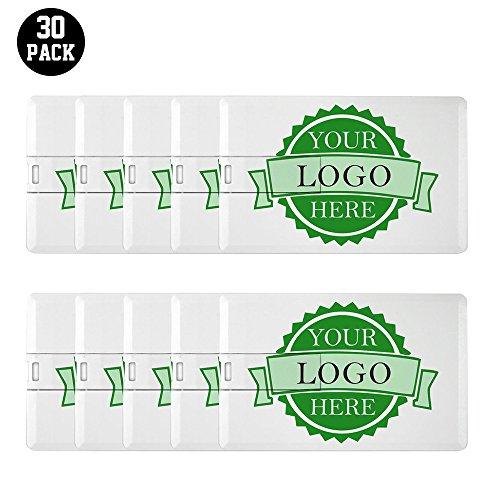 Customized Bank Card Usb Flash Drive Personalized Credit Card Thumb Drive 30 Bulk Pack Wholesale 8Gb