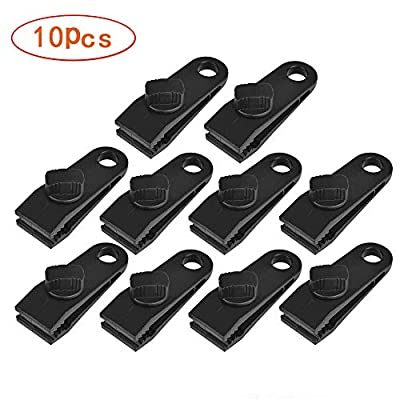10 Pcs Heavy Duty Multi-Purpose Thumb Screw Tarp Clips Clamps Withstand 60mph Strong Wind Fit for Holding up Tarp, Canopy, Car Cover, Pool Cover, Boat Cover, Hammock Cover