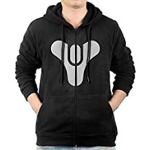 Men Destiny Logo Hoodie Sweatshirt Black