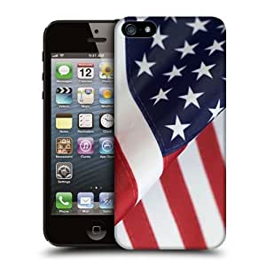 Case Fun Flag of United States of America Snap-on Hard Back Case Cover for Apple iPhone 5 / 5S