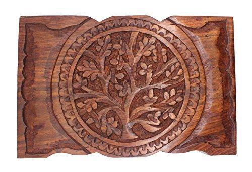 Govinda Rosewood Box Tree of Life 9 x 6 Inch