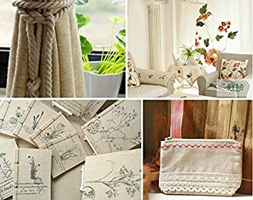 19.7 x 19.7In Linen Needlework Fabric Upholstery Flower Pot Decoration and Tablecloth BENBO 6Pcs Assorted Colors Linen Embroidery Fabric Cross Stitch Cloth for Garments Crafts