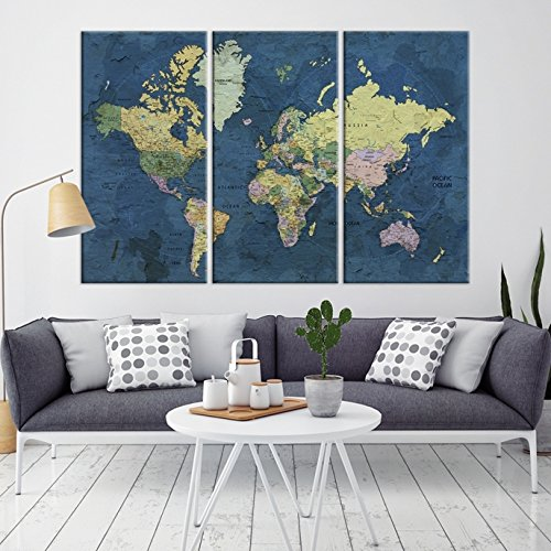 Amazon world map canvas print old world map canvas art large world map canvas print old world map canvas art large world map world gumiabroncs Images