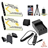 Two Halcyon 1200 mAH Lithium Ion Replacement NP-BN1 Battery and Charger Kit + Memory Card Wallet + SDHC Card USB Reader + Deluxe Starter Kit for Sony DSC-TX66, DSC-T110, DSC-T99, DSC-TX5, DSC-TX7, DSC-TX9, DSC-TX10, DSC-TX100V, DSC-TX200V, DSC-TX20, DSC-W