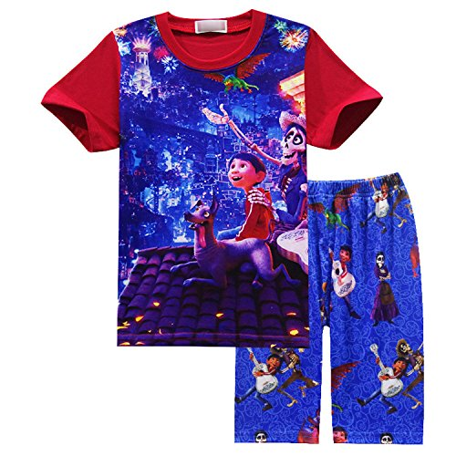 (PCLOUD Coco Home Clothes for Short Sleeves and Beach Pants Pajamas Set)