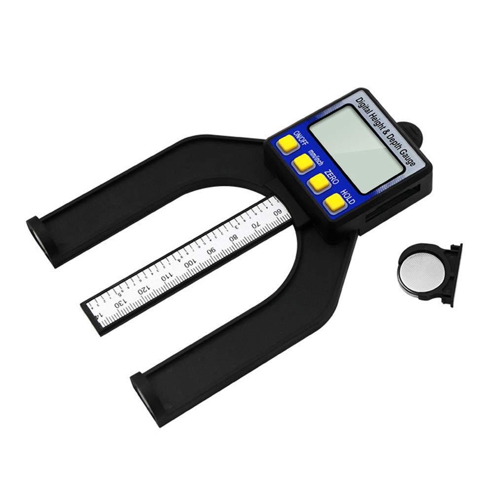 UHAoo Digital Display Altura medidor de Profundidad Profundidad Metros de Medidor electr/ónico Regla de Tratar Madera 0-80mm Rango de medici/ón