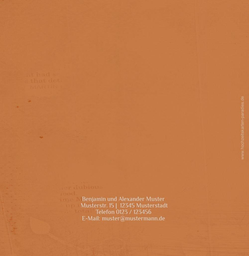 Kartenparadies Kartenparadies Kartenparadies Danksagung für Hochzeitsgeschenke Danke Im Zeichen der Liebe - Männer, hochwertige Danksagungskarte Hochzeitsglückwünsche inklusive Umschläge   10 Karten - (Format  145x145 mm) Farbe  dunkelOrange B01N36GQHN | Chara 7775af
