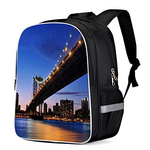 Brooklyn Bridge Scenery Laptop Backpack for Girls School
