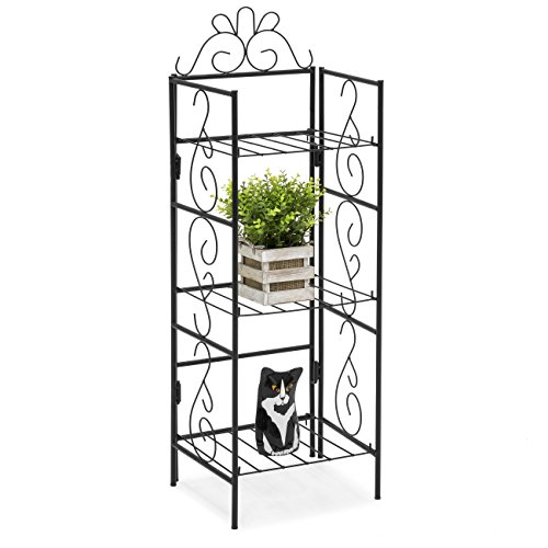 - Best Choice Products 3-Tier Decorative Free Standing Storage Rack for DIY Organization, Outdoor, and Indoor - Black