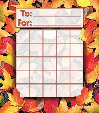 North Star Teacher Resources NS2213 Mini Incentive Chart Fall Leaves-