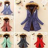 Women Coat, New Hot Sale Womens Warm Long Coat Faux Fur Collar Hooded Jacket Slim Winter Parka Outwear Sweater by Neartime