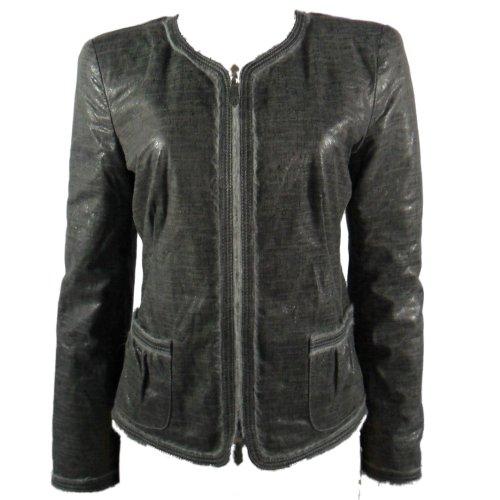 Armani Collezioni 100% Agnello Lamb Leather Jacket Womens 8 (Giorgio Collezioni Armani)