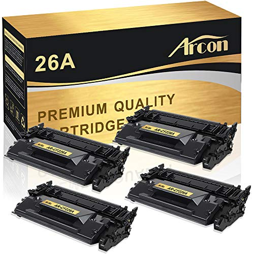 Model Drum Cartridge (Arcon Compatible Toner Cartridge Replacement for HP 26A CF226A HP LaserJet Pro M402n M402dn M402dw M402d HP LaserJet Pro MFP M426dw M426fdw M426fdn HP 26A CF226A 26X CF226X M402n M426fdw Printer-4Pack)