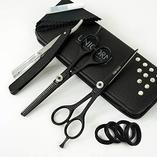 "Unicorn Sharp 6.0"" Professional Shears Hair Cutting Scissors - Barber Razor Edge Shears - Hair Scissors Trimming/Thinning Scissors - Mustache Scissors and Barber Scissors with Adjustment Screw"