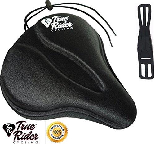 Silicone Bike Seat Saddle Cover(Black) - 8
