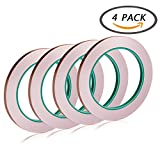 Arts & Crafts : Selizo 4 Pack Copper Foil Tape with Conductive Adhesive for EMI Shielding, Slug Repellent, Paper Circuits, Electrical Repairs, Grounding