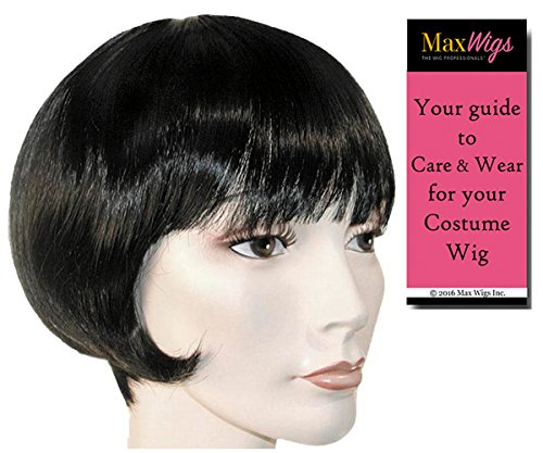 Standard Lulu 1920s Color Auburn - Lacey Wigs Flapper Short Bob Louise Brooks Theatrical Chicago Bundle with MaxWigs Costume Wig Care Guide (Bob 1920s Wig)